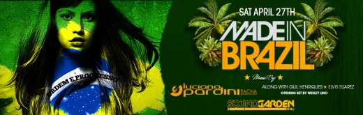soundgarden hall presents made in brazil with luciano pardini